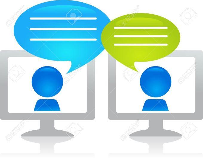 chatting-through-the-internet-Stock-Vector-forum-discussion-chat