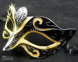 for-doll-bird-nose-gold-drawing-black-mask-half-face-halloween