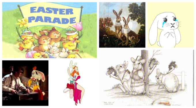 easter parade bunnies collage